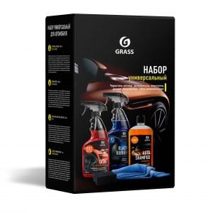 Набор универсальный д/автомобиля (ср-во д/очистки колесных дисков 600мл+полироль-чернитель шин 600мл