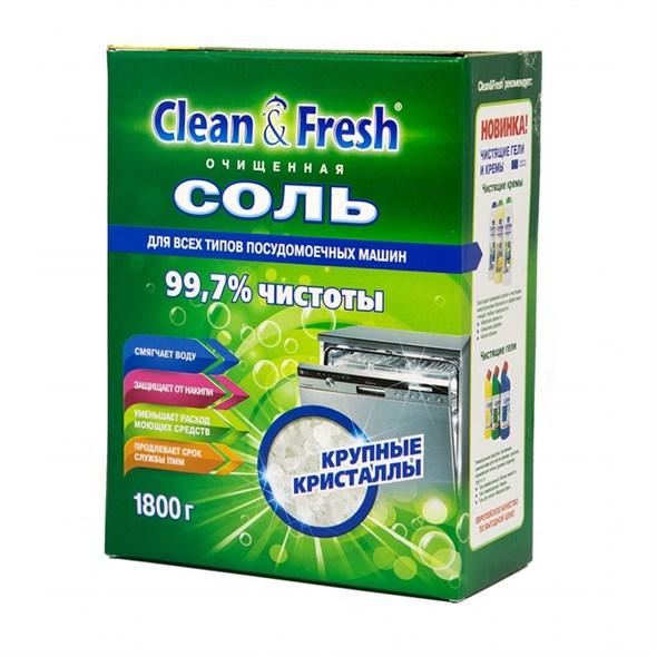 Соль для ПММ CLEAN&FRESH гранулированная 1,8 кг - фото 5153
