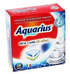 """Таблетки для ПММ """"Aquarius"""" ALLin1 (midi) 30 штук - фото 5173"""