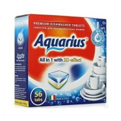 "Таблетки для ПММ ""Aquarius"" ALLin1 (mega) 56 штук - фото 5175"