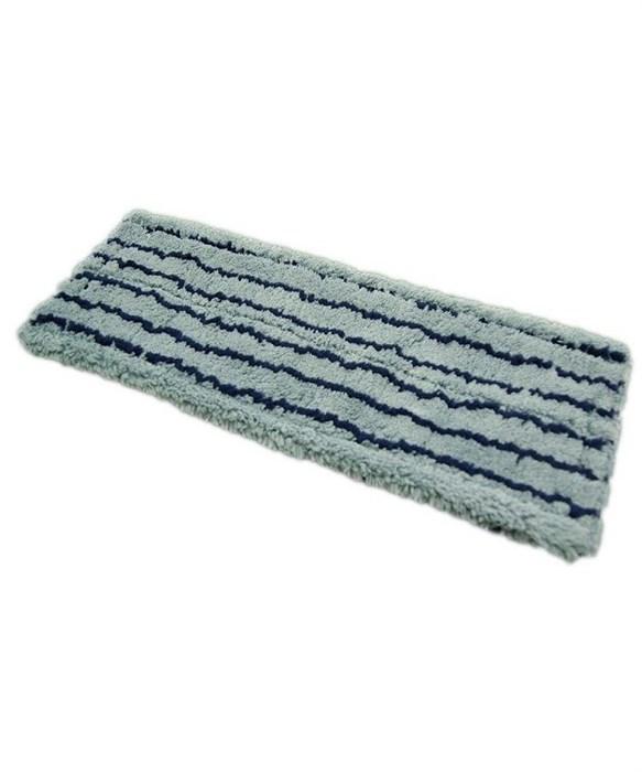 MMV-50-RS, Моп микрофибра серый с синей полосой, 50х13см, карман+язык - фото 5269