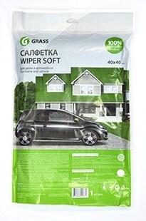 Салфетка WIPER SOFT 100% микрофибра 40*40 см - фото 5394