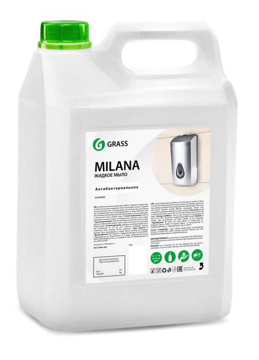 GRASS Жидкое крем-мыло Milana антибактериальное 5 кг - фото 5432