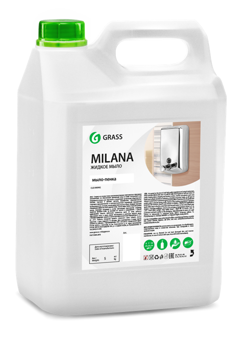 GRASS Жидкое мыло-пенка Milana 5 кг - фото 5433
