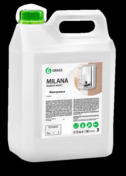GRASS Жидкое крем-мыло Milana жемчужное 5 кг - фото 5434