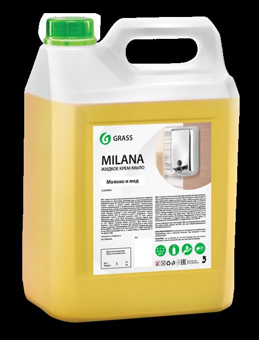 GRASS Жидкое крем-мыло Milana молоко и мед 5 кг - фото 5435