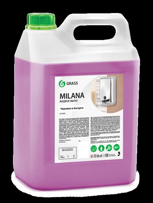 GRASS Жидкое крем-мыло Milana черника в йогурте 5 кг - фото 5436