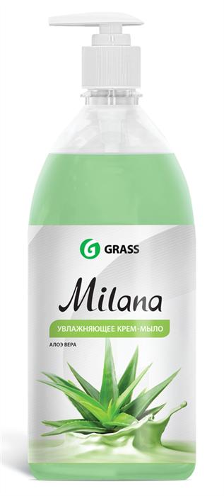 GRASS Жидкое крем-мыло Milana алоэ вера с дозатором 1 л - фото 5495