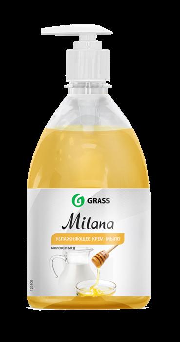 GRASS Жидкое крем-мыло Milana молоко и мед с дозатором 500 мл - фото 5496