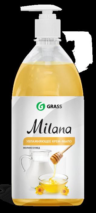 GRASS Жидкое крем-мыло Milana молоко и мед с дозатором 1 л - фото 5497