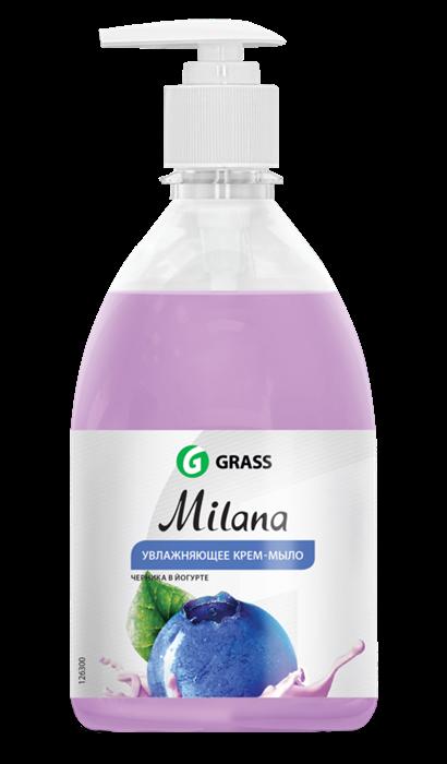 GRASS Жидкое крем-мыло Milana черника в йогурте с дозатором 500 мл - фото 5498