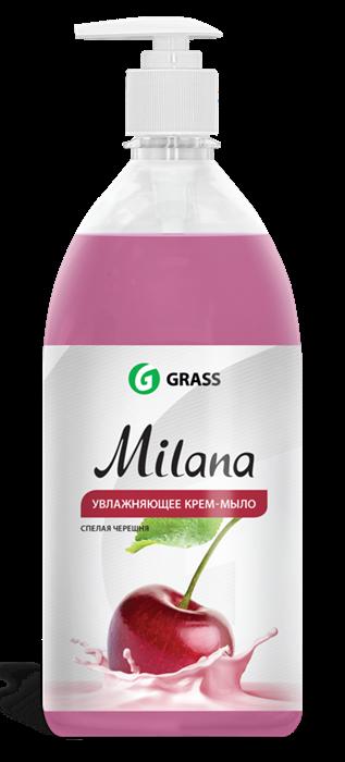 GRASS Жидкое крем-мыло Milana спелая черешня с дозатором 1 л - фото 5503
