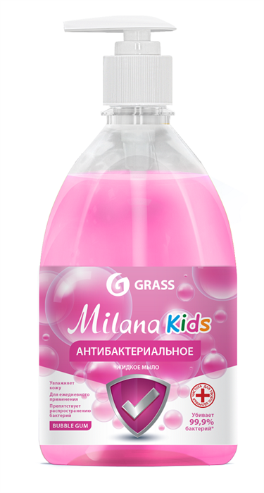 GRASS Жидкое мыло Milana Kids антибактериальное Fruit bubbles 500 мл - фото 5506