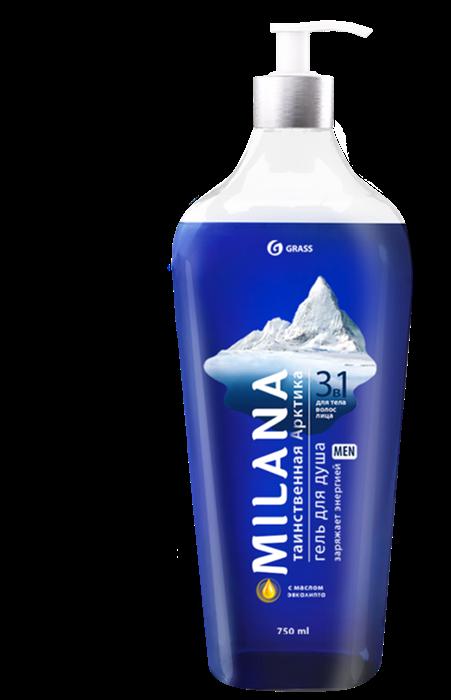GRASS Milana MEN гель для душа Таинственная арктика с маслом эвкалипта 750мл - фото 5516
