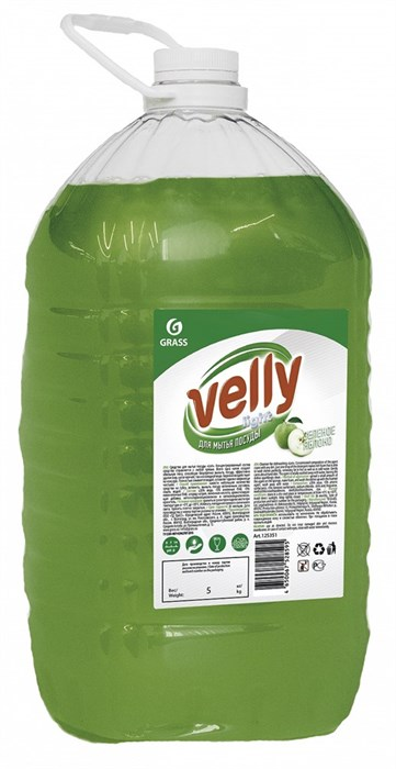 GRASS Средство для мытья посуды Velly  light (зеленое яблоко) 5 кг - фото 5557