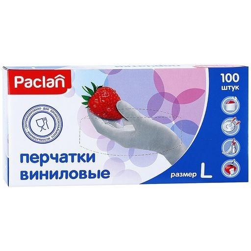 Перчатки виниловые (L) 100шт. - фото 5665