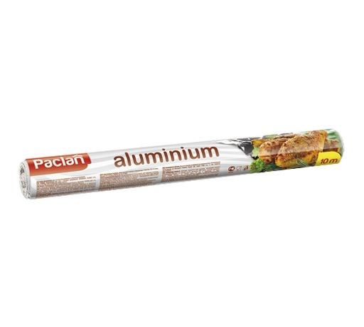 Фольга алюминиевая 10м х 29см в рулоне - фото 6246