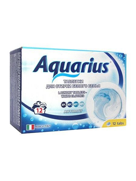 """Таблетки для стирки белого белья """"AQUARIUS"""" Италия 12 штук - фото 6631"""