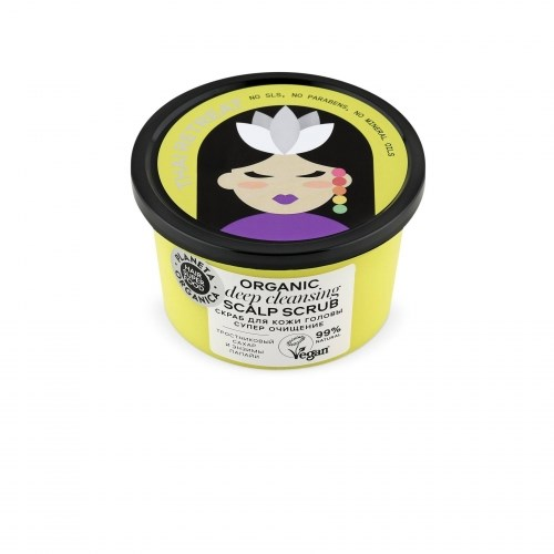 "Planeta OrganicaHair Super Food / Скраб для кожи головы ""супер очищение""Organic scalp scrub ""Deep clean.""250 мл - фото 6941"
