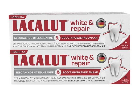 LACALUT white&repair зубная паста 75 мл - фото 7281