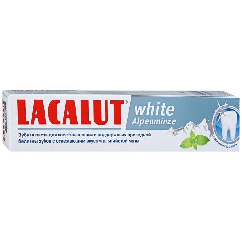 LACALUT white Аlpenminze зубная паста 75 мл - фото 7286