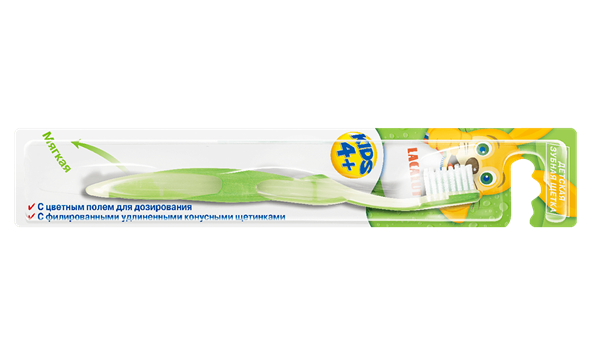 LACALUT Kids 4+ детская зубная щетка - фото 7303