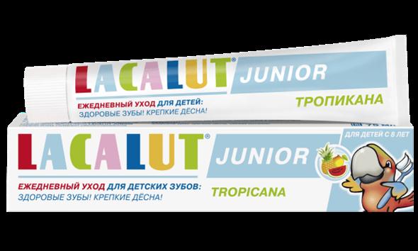 LACALUT Junior тропикана детская зубная паста, 75 мл - фото 7307