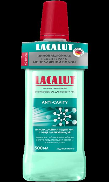 Lacalut анти-кариес антибактериальный ополаскиватель для полости рта, 500 мл - фото 7321