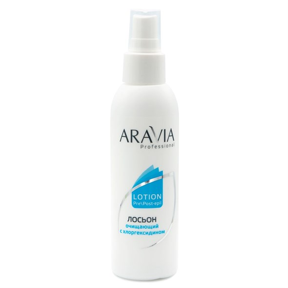 ARAVIA Professional Лосьон очищающий с хлоргексидином, 150 мл./15 - фото 7574