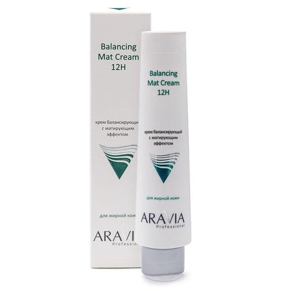 ARAVIA Professional Крем для лица балансирующий с матирующим эффектом Balancing Mat Cream 12H, 100мл/15 - фото 7830