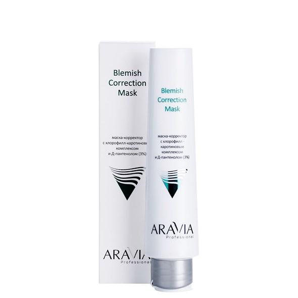 ARAVIA Professional Маска-корректор против несовершенств с хлорофилл-каротиновым комплексом и Д-пантенолом (3%) Blemish Correction Mask, 100 мл - фото 7851