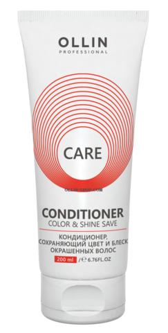 OLLIN CARE Кондиционер, сохраняющий цвет и блеск окрашенных волос 200мл/ Color&Shine Save Conditione - фото 8099