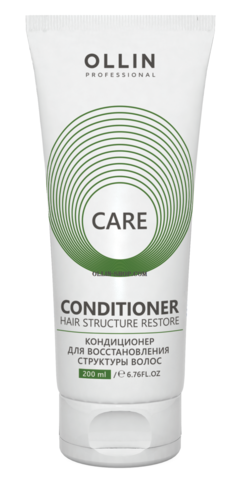 OLLIN CARE Кондиционер для восстановления структуры волос 200мл/ Restore Conditioner - фото 8113