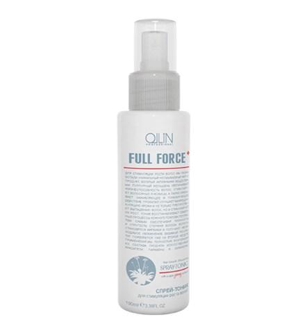 OLLIN FULL FORCE Спрей-тоник для стимуляции роста волос с экстрактом женьшеня 100мл - фото 8152