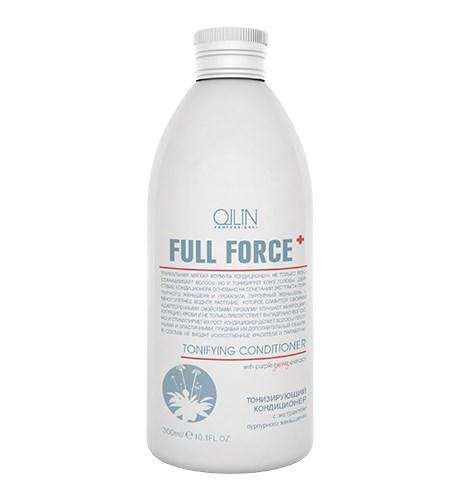 OLLIN FULL FORCE Тонизирующий кондиционер с экстрактом пурпурного женьшеня 300мл - фото 8154