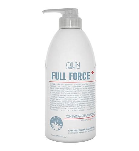 OLLIN FULL FORCE Тонизирующий шампунь с экстрактом пурпурного женьшеня 750мл - фото 8155