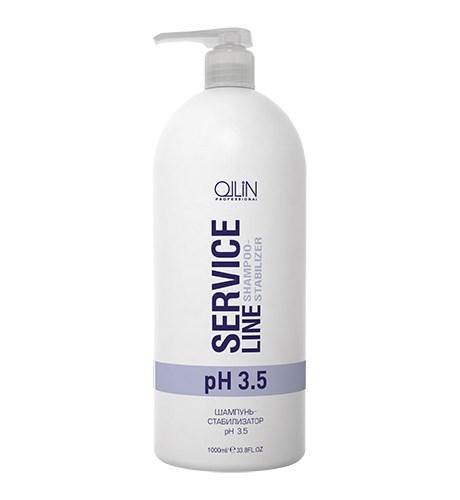 OLLIN SERVICE LINE Шампунь-стабилизатор рН 3.5 1000мл/ Shampoo-stabilizer pH 3.5 - фото 8198