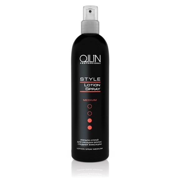 OLLIN STYLE Лосьон-спрей для укладки волос средней фиксации 250мл/ Lotion-Spray Medium - фото 8207