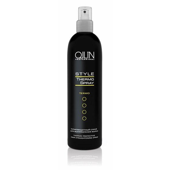 OLLIN STYLE Термозащитный спрей для выпрямления волос 250мл - фото 8209