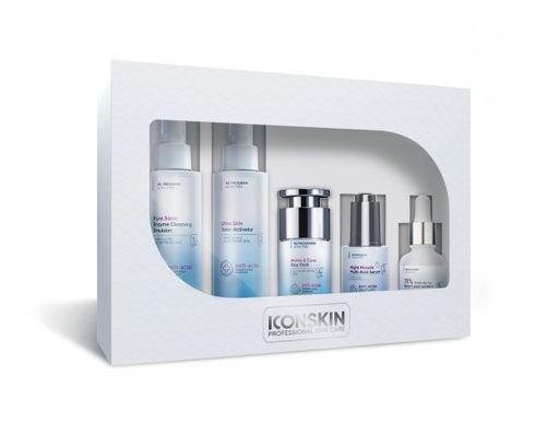 ICON SKIN  / Косметический набор для лечения акне средней степени, 5 средств. Профессиональный уход для проблемной кожи. - фото 8522