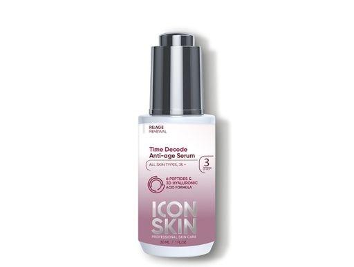 ICON SKIN  / Омолаживающая сыворотка для лица от морщин с 6 пептидами и 3D гиалуроновой кислотой, 30 мл - фото 8786