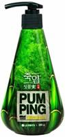 Perioe зубная паста с бамбуковой солью Pumping Bamboo Salt Gum Care для профилактики проблем с деснами, 285 г