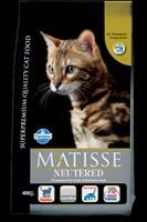 MATISSE NEUTERED Корм для взрослых кастрированных котов и стерилизованных кошек, 0,4кг