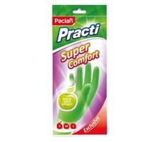 Перчатки резиновые Super Comfort c ароматом зеленого яблока (S) зеленые, 1 пара