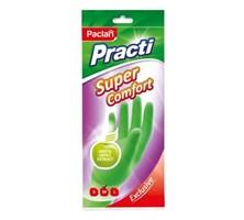 Перчатки резиновые Super Comfort c ароматом зеленого яблока (M) зеленые, 1 пара