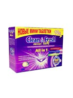 "Таблетки для ПММ ""Clean&Fresh"" All in 1  mini tabs (mega), 60 шт"