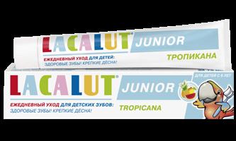 LACALUT Junior тропикана детская зубная паста, 75 мл