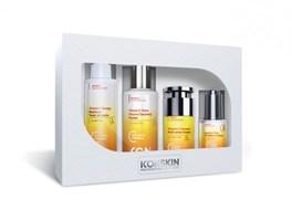 ICON SKIN  / Набор средств c витамином С для сияния, упругости и улучшения цвета кожи, 4 средства. Профессиональный уход для всех типов кожи.