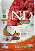 Корм ND Cat GF Quinoa Skin&Coat Herring, 300 g/для взрослых кошек с сельдью, уход за кожей и шерстью, 300 г