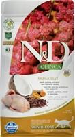 Корм ND Cat GF Quinoa Skin&Coat Quail, 1,5 kg/для взрослых кошек с перепелкой, уход за кожей и шерстью, 1,5 кг